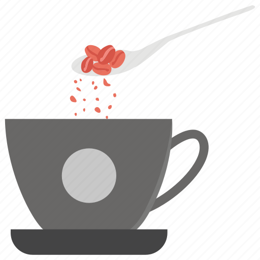 coffee flavour, crushed coffee, pouring coffee, spoon coffee, tablespoon coffee icon
