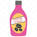 coffee bottle, coffee flavour, coffee syrup, drink syrup, liquid coffee icon