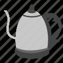coffee equipment, electric kettle, kitchen appliance, tea kettle, water kettle icon