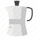coffee beater, coffee machine, coffee maker, kitchen appliance, moka coffee pot icon