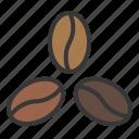 barista, coffee, coffee bean, coffee roasting, dark roast, light roast, medium roast, roast icon