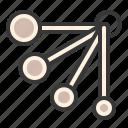 barista, barista tools, coffee, coffee equipment, coffee supplies, measuring spoon icon
