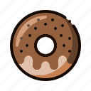 pastry, donut, coffee shop, doughnut, dessert