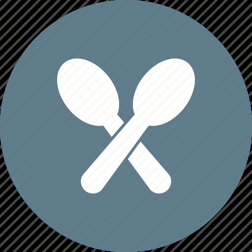 Set, tablespoon, cutlery, silverware, spoons, tableware, teaspoon icon - Download