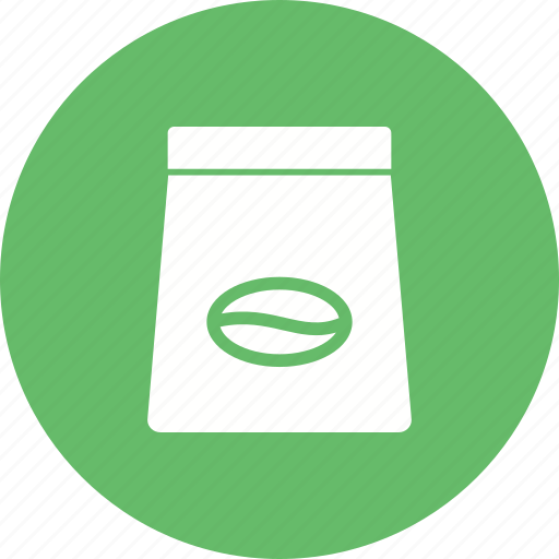 Coffee, package, drink, packet, bag, beverage, beans icon