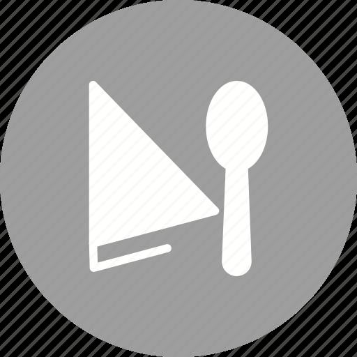 Fork, clean, napkin, cloth, spoon, flatware, table icon