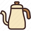 cafe, coffee, coffee shop, drink, hot, kettle, tool