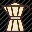 cafe, coffee, coffee shop, drink, moka, pot, tool