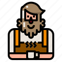 avatar, barista, hipster, man, owner, shop icon