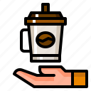 coffee, conservation, cup, environment, hot, paper icon