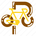 bicycle, parking, transport icon