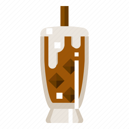 Cappucchino, cool, drink, glass, ice, milk icon - Download on Iconfinder