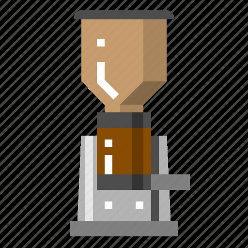 Beans, coffee, grinder, machine, powder icon - Download on Iconfinder