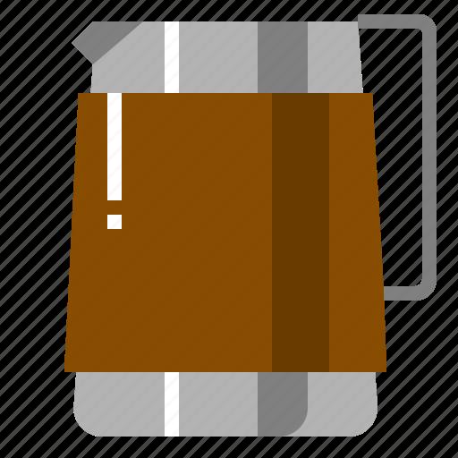 Art, cappuccino, latte, milk, pitcher, steam icon - Download on Iconfinder