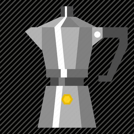 Boiled, coffee, espresso, fresh, kettle, moka, pot icon - Download on Iconfinder