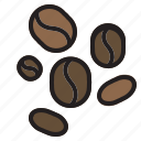 beans, coffee, drink, food icon