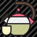 food, kitchen, pot, tea icon