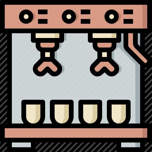 coffee, drinks, espresso, grinder, hot, machine, maker icon