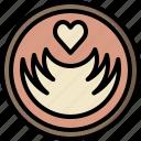 barista, coffee, cup, espresso, latte, milk, shop icon