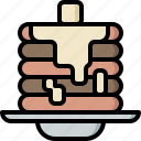 cafe, dessert, pancake, shop, snack, sweet, syrup icon