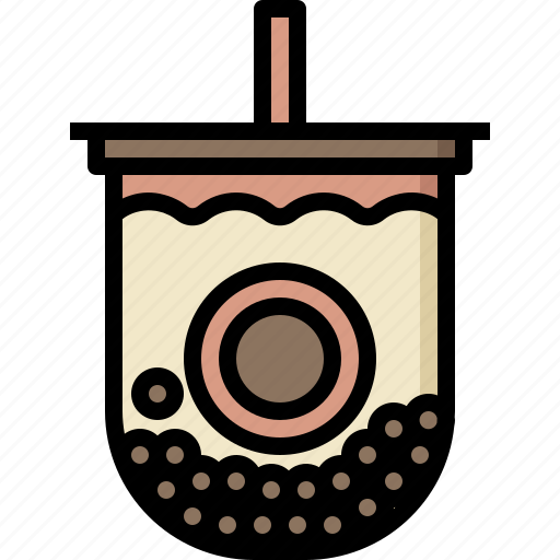 bubble, cold, cup, drinks, milk, shake, tea icon
