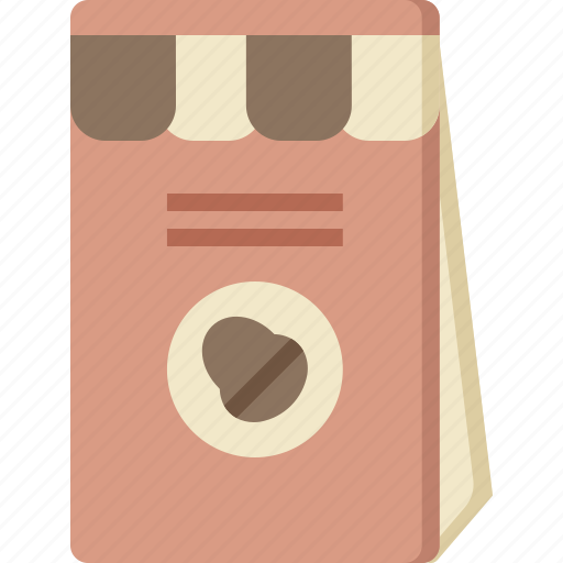 bag, beans, blend, coffee, hot, seed, shop icon