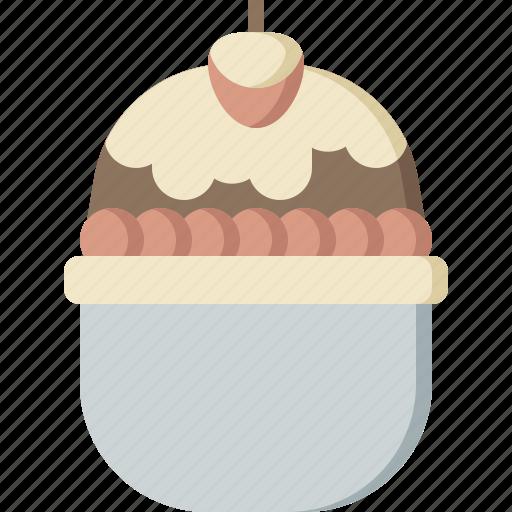 bowl, cold, cream, cup, dessert, ice, sweet icon