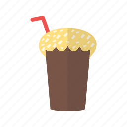 chocolate, cold, drink, glass, milk, milkshake, shake icon