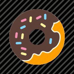 baked, cafe, cream, dessert, donut, doughnut, sweet icon