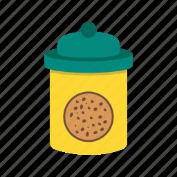 biscuit, chocolate, cookie, dessert, food, jar, sweet icon