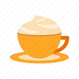 cafe, caffeine, cappuccino, coffee, creamy, cup, drink icon