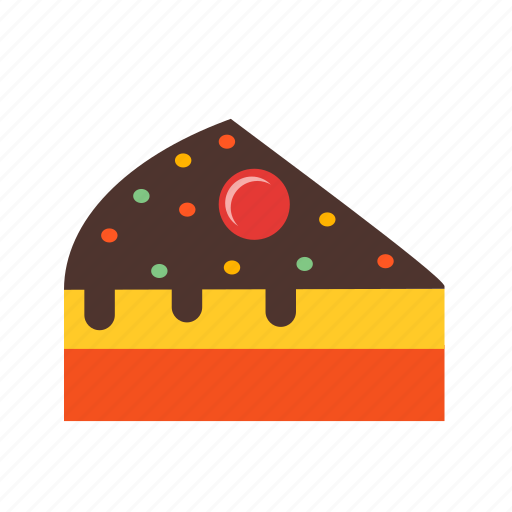 birthday, cake, cream, dessert, food, party, slice icon