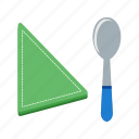clean, cloth, flatware, fork, napkin, spoon, table icon