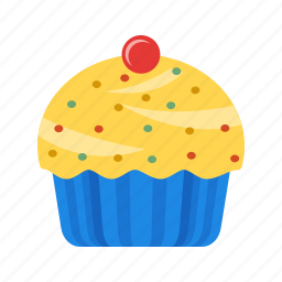 bakery, breakfast, cream, cupcake, muffin, pastry, sweet icon