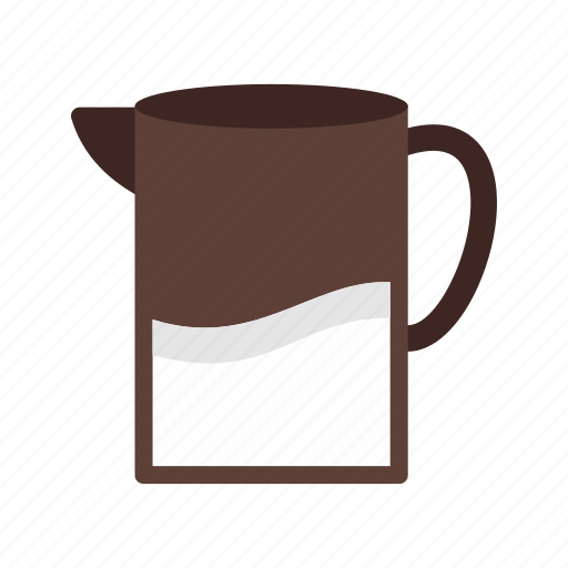 dairy, drink, food, healthy, jug, milk, white icon