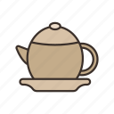 coffee, drink, tea, teapot icon icon