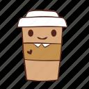 coffee, cup, happy, paper, smile, tea icon