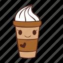 cup, happy, heart, icecream, smile icon