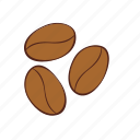 beans, coffee, garden, plant icon