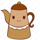 coffee, happy, pot, smile, tea icon