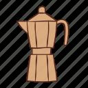coffee, italian, maker, moka, pot icon