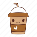 cup, happy, heart, love, paper, smile icon