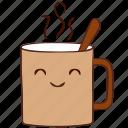 coffee, happy, hot, mug, smile icon