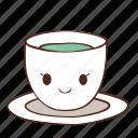 coffee, cup, happy, smile, tea icon