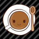 coffee, happy, smile, spoon, tea icon