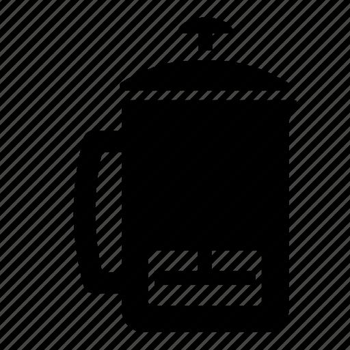 beverage, brew, brew methods, coffee, french, frenchpress, press icon