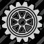 cog, cogwheel, gear, mechanism, options, settings, wheel icon