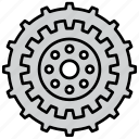 cog, cogwheel, configuration, gear, mechanism, settings, wheel icon