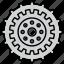 cog, cogwheel, configuration, gear, mechanism, settings, wheel icon