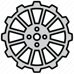 cog, cogwheel, engine, gear, mechanism, shape, wheel icon